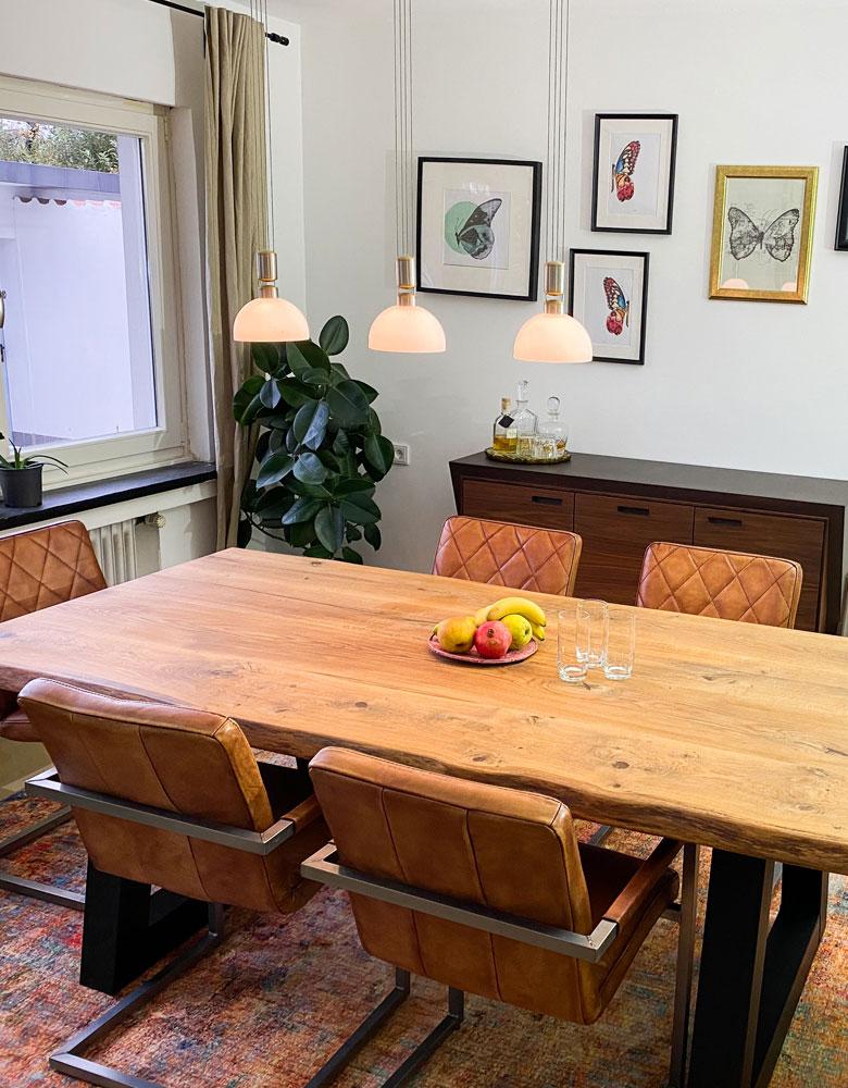 Esstisch aus Naturholz | Massivholztisch