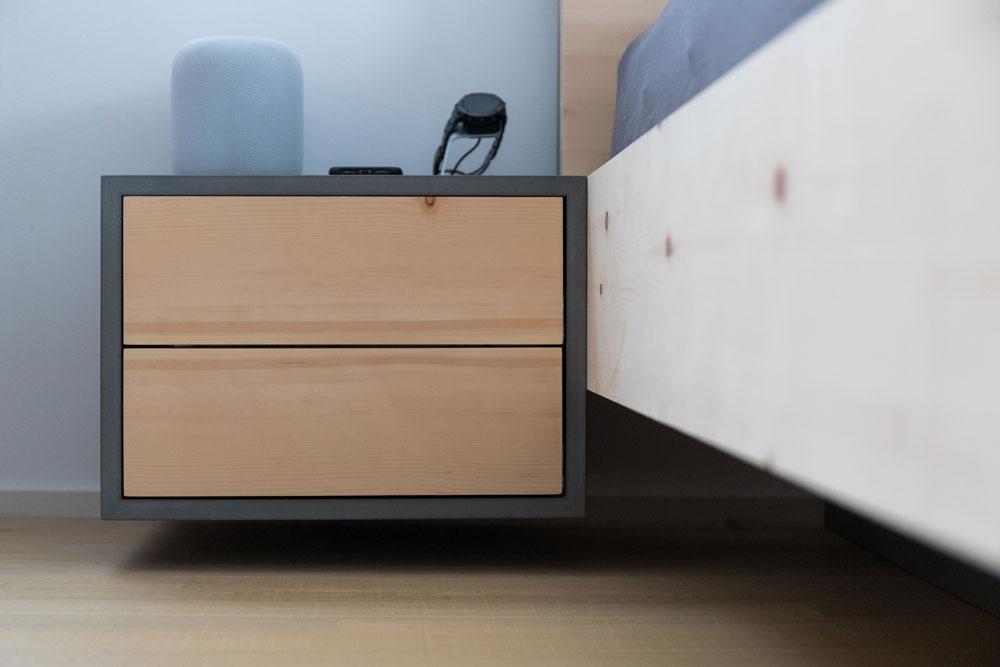 Nachttisch schwebend | Tischlerei Möbel