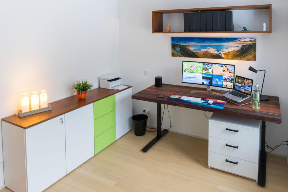 Schreibtisch mit Kommode für Arbeitszimmer